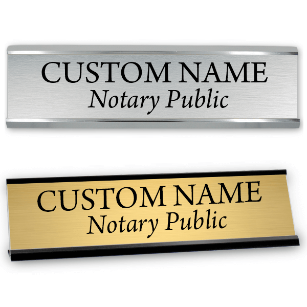 "Notary Public Name Sign | 2"" x 8"""