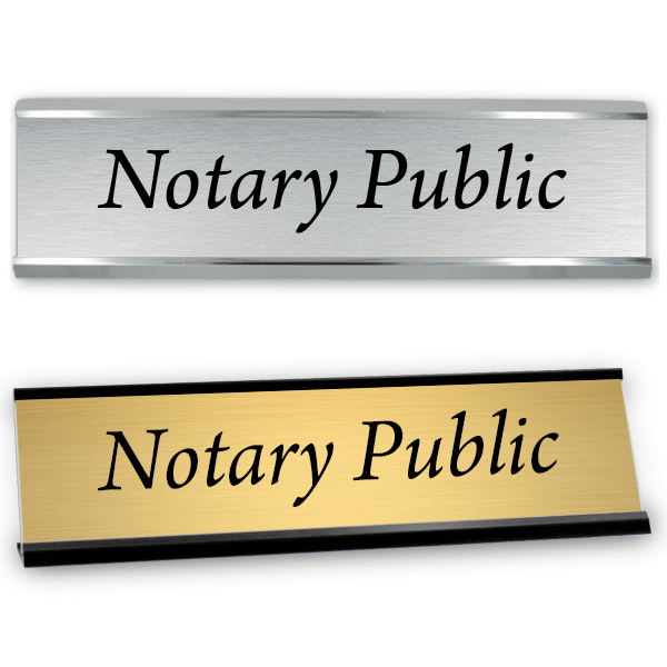 "Notary Public Sign with Frame | 2"" x 8"""