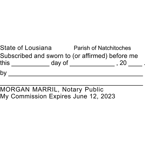 Louisiana Jurat Notary Stamp All State Notary Supplies