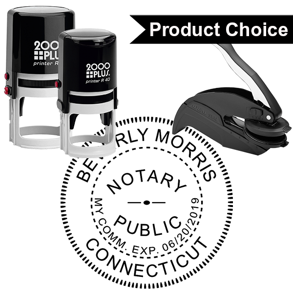 Connecticut Notary Round Design