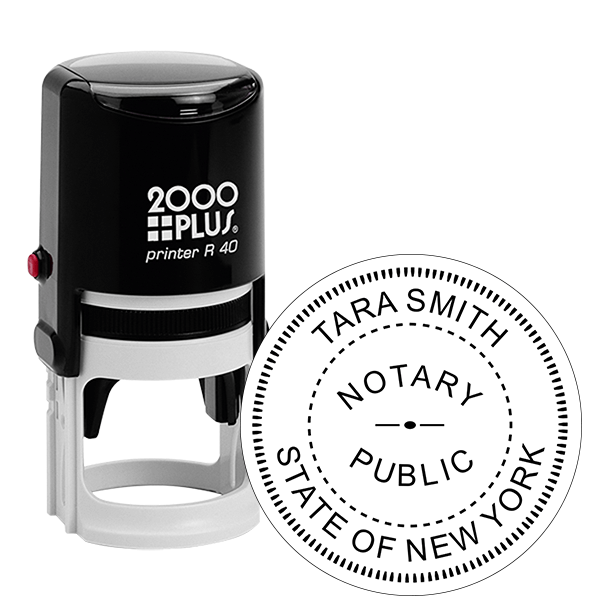 New York Notary Round Stamp