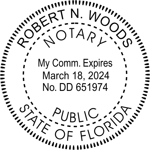 Florida Notary Public Stamp Seal
