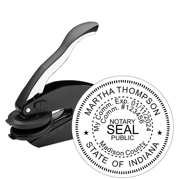 Indiana Notary Round Seal Embosser