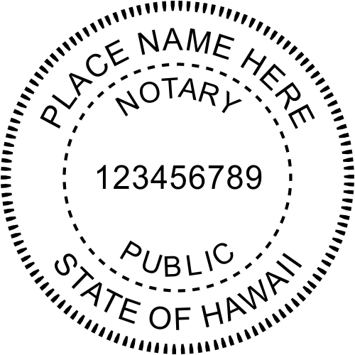Hawaii Notary Public Stamp Seal Imprint