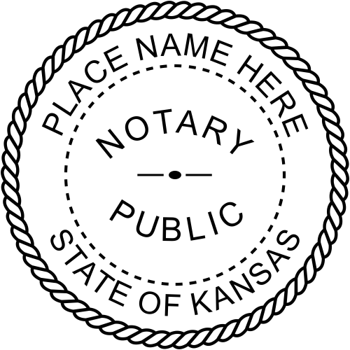 Kansas Notary Public Stamp Seal Imprint