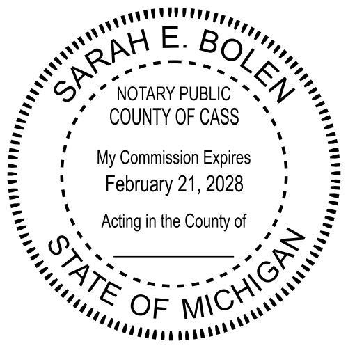 Michigan Notary Round Seal Stamp