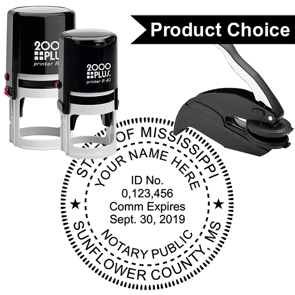 Mississippi Notary Round - Milled