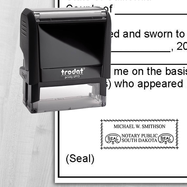 South Dakota Notary Rectangle