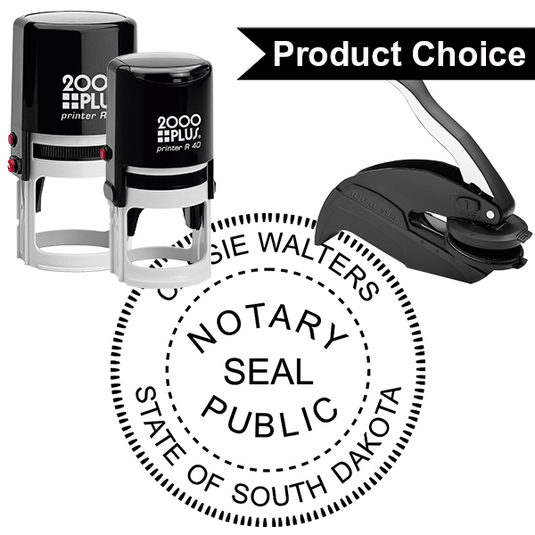 South Dakota Notary Round with Seal