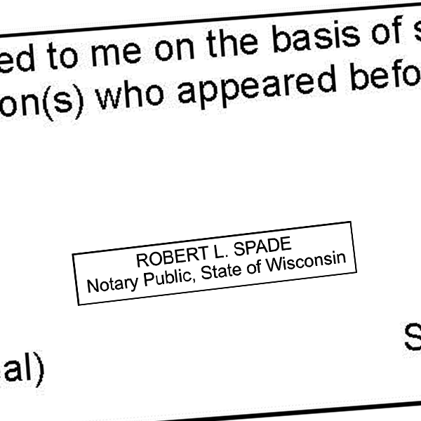 Wisconsin Notary Rectangle Imprint