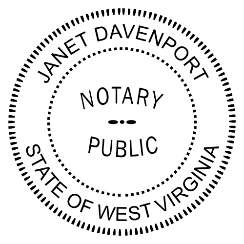 West Virginia Notary Round Imprint