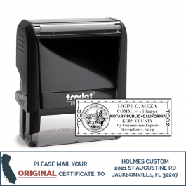 California Notary Rectangle Design