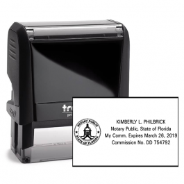 Florida Notary Public Seal Rectangular Stamp