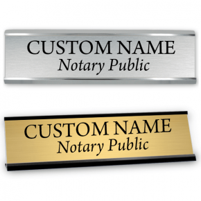 "2"" x 8"" Notary Public Name Sign with Frame"
