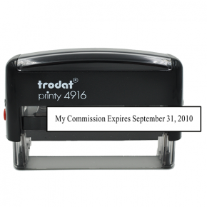 Notary Commission Expiration 1 Line Stamp