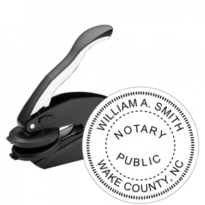 North Carolina Notary Round Seal Embosser
