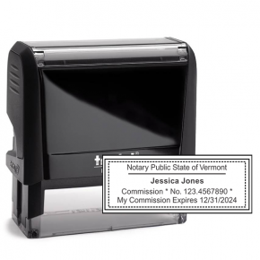 Vermont Notary Rectangular Stamp Seal