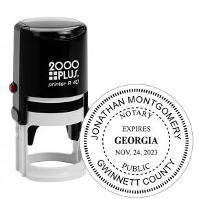 Georgia Notary with Expiration Round Stamp