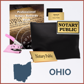 Ohio Pink Deluxe Notary Kit