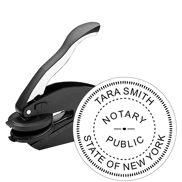 New York Notary Round Seal Embosser