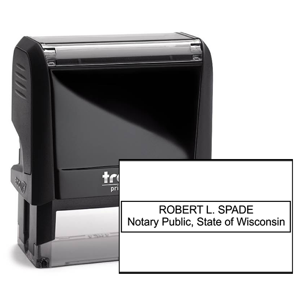 Wisconsin Notary Rectangle