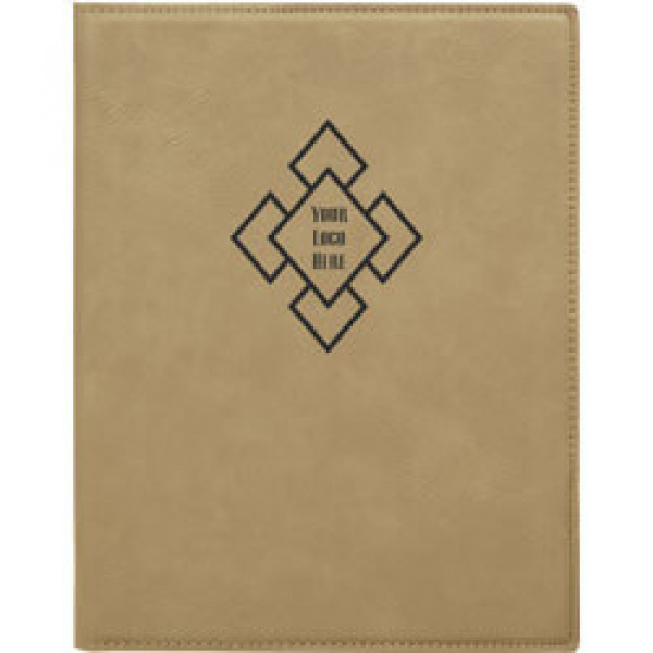 Custom Logo Leatherette Folio
