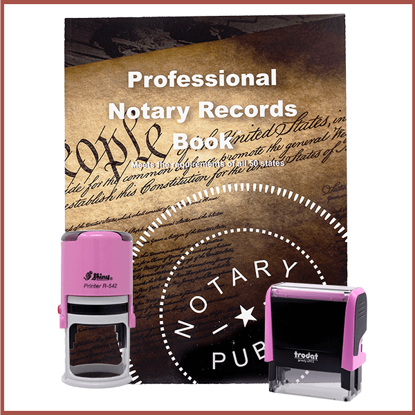 Iowa Pink Value Notary Kit