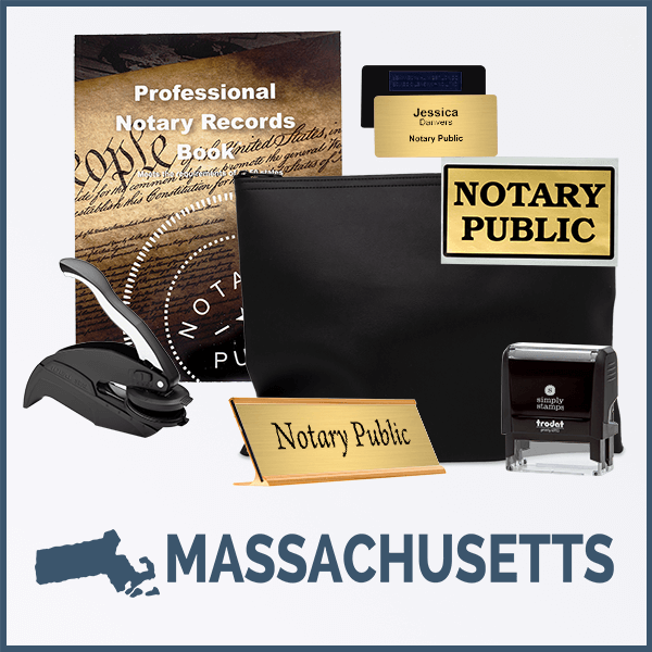 Massachusetts Deluxe Notary Kit