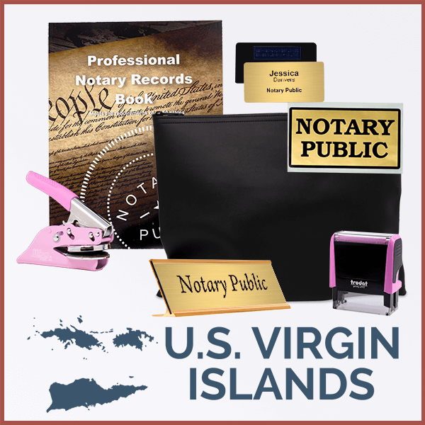 U.S. Virgin Islands Pink Deluxe Notary Kit