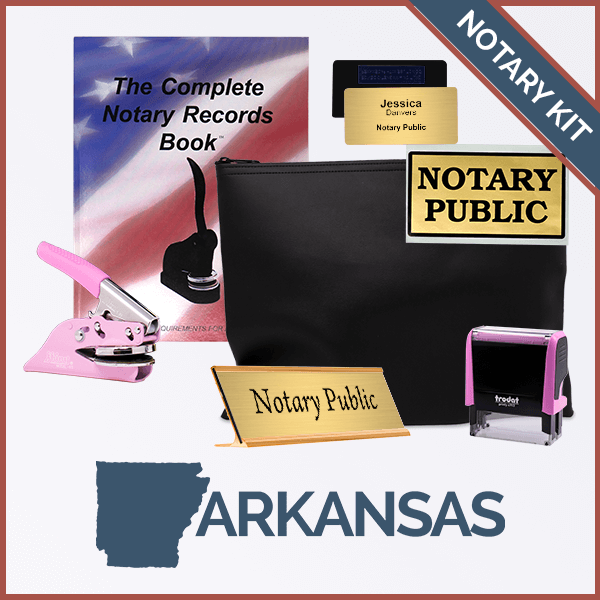 Arkansas Pink Deluxe Notary Kit