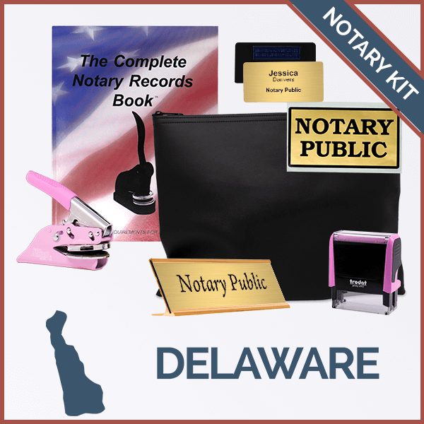Delaware Pink Deluxe Notary Kit