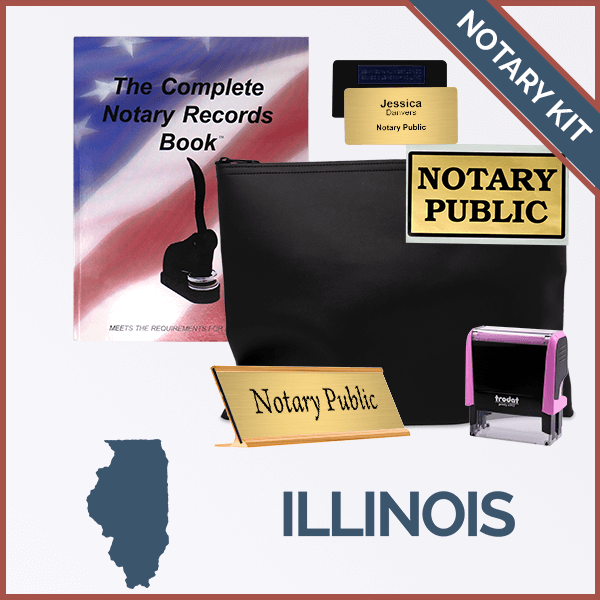 Illinois Pink Deluxe Notary Kit