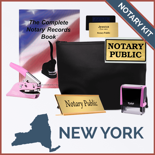 New York Pink Deluxe Notary Kit