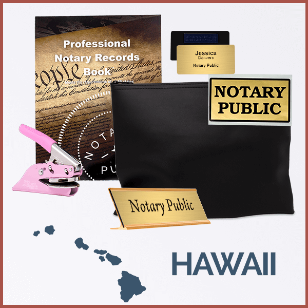 Hawaii Pink Deluxe Notary Kit