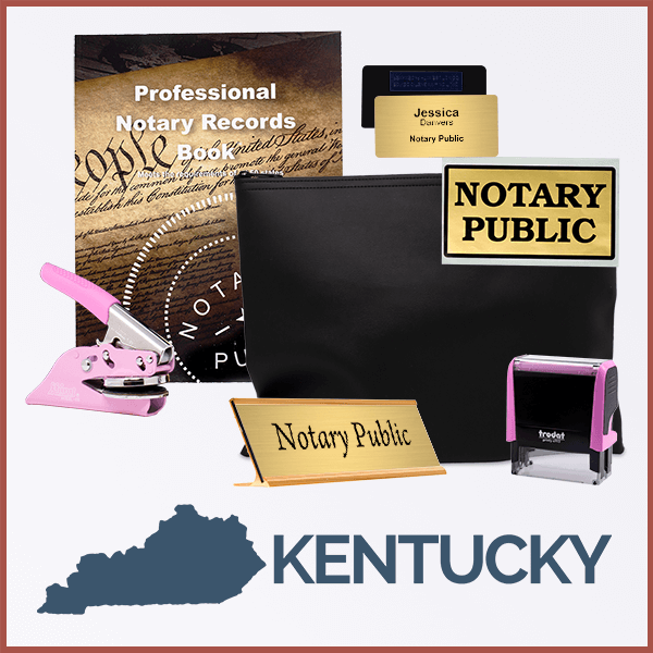 Kentucky Pink Deluxe Notary Kit