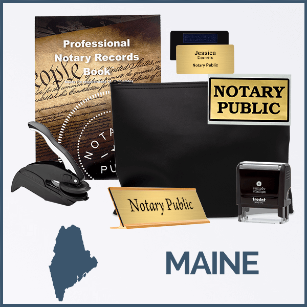 Maine Deluxe Notary Kit