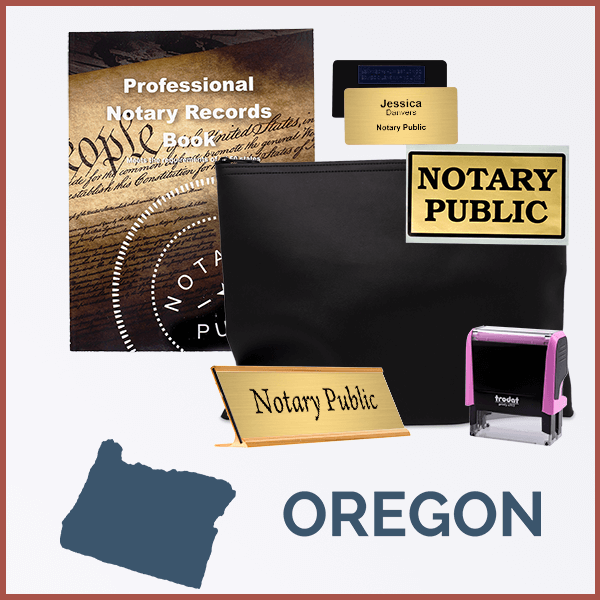 Oregon Pink Deluxe Notary Kit