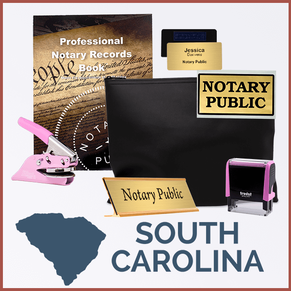 South Carolina Pink Deluxe Notary Kit