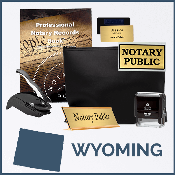 Wyoming Deluxe Notary Kit